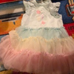 Euc 12 month butterfly dress with puffy skirt